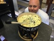 """""""The Boss"""" et la fondue aux truffes"""